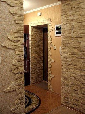 Как отделать камнем стены