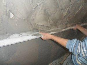 Оштукатуривание бетонной поверхности цементным раствором бетон анапа официальный