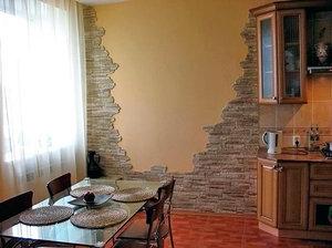 Как смотрится камень на стенах