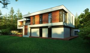Дома с плоскими крышами