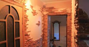 Как выложить стены в комнате декоративной плиткой