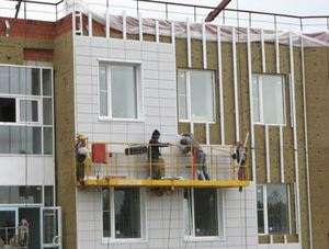 Монтажные работы с фасадом